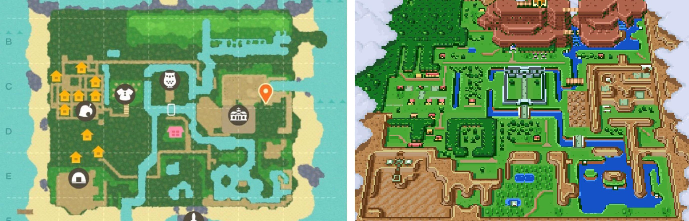 Thanks to this one ingenious person, I immediately want to turn my Animal Crossing island into a Zelda map screenshot