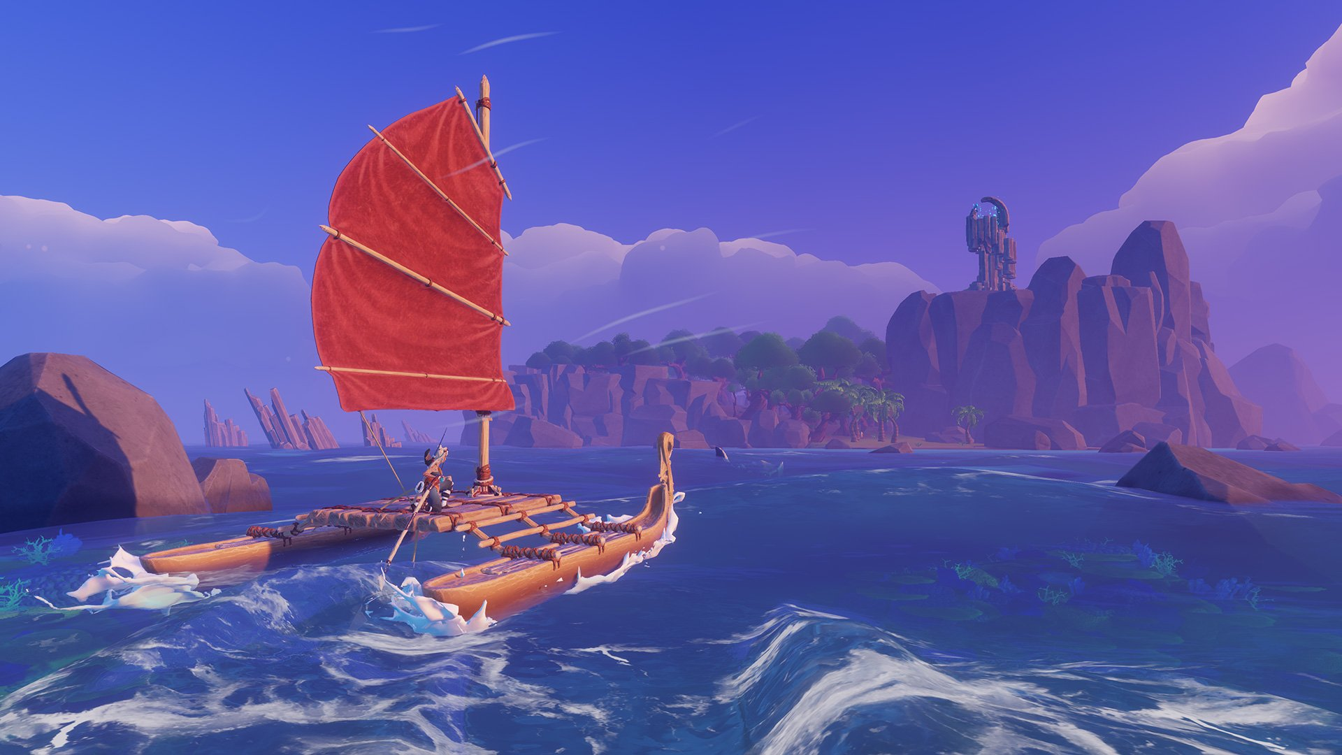 Windbound is a survival adventure game about building boats screenshot