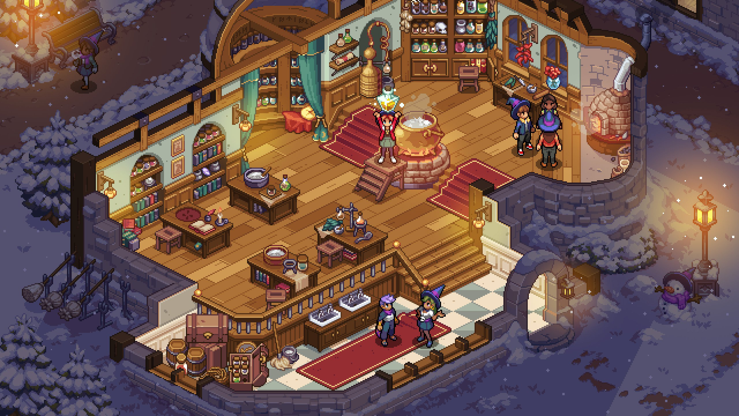 Chucklefish's magical school game Witchbrook has a new art style screenshot
