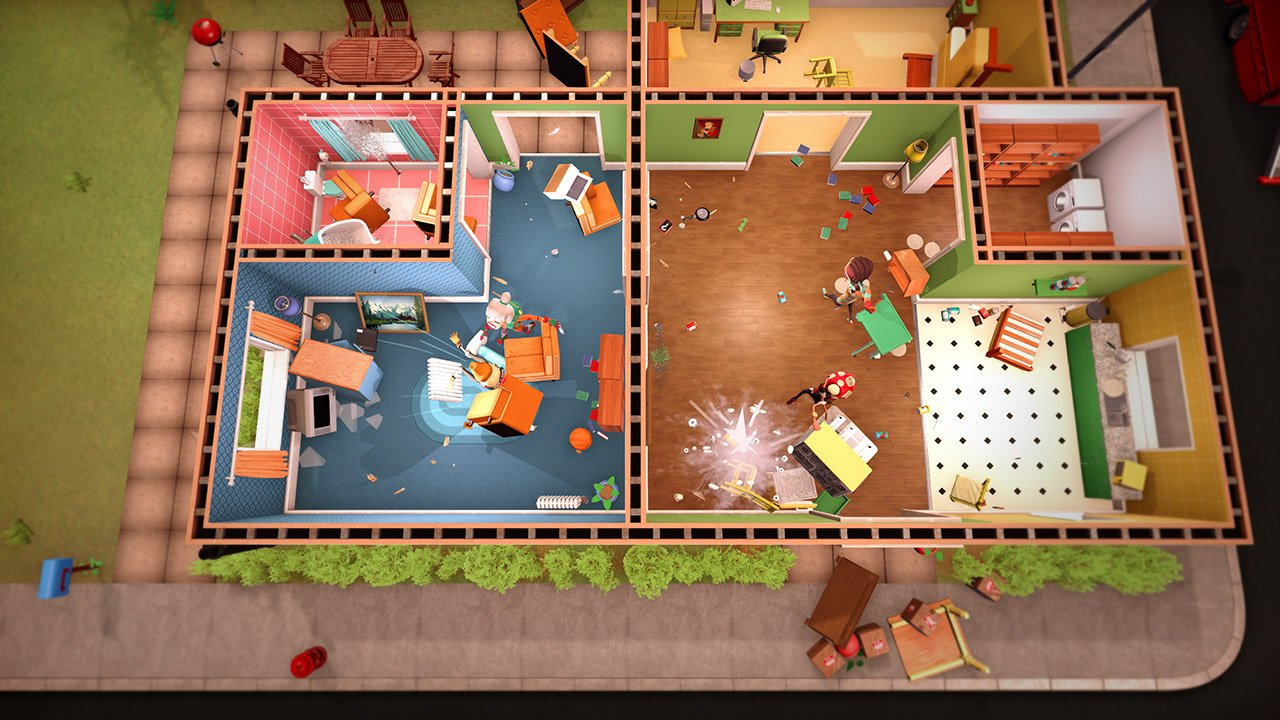 Here's a new look at Get Packed: a first-on-Stadia Overcooked-like 'couch co-op removal game' screenshot