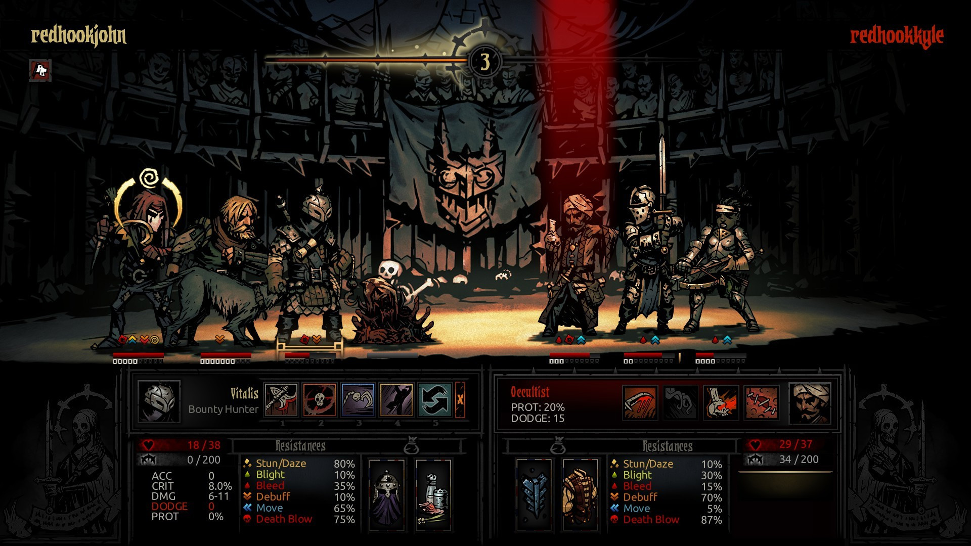 Darkest Dungeon is adding PvP with The Butcher's Circus DLC screenshot