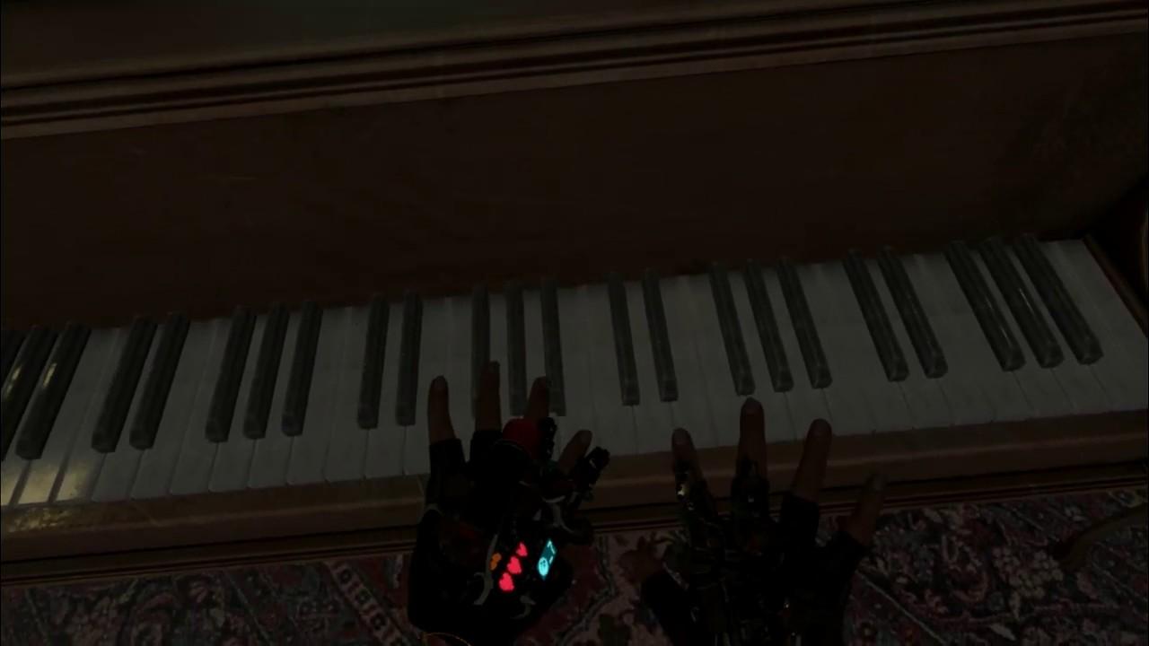 My new lane is watching people play music on Half-Life: Alyx's piano screenshot