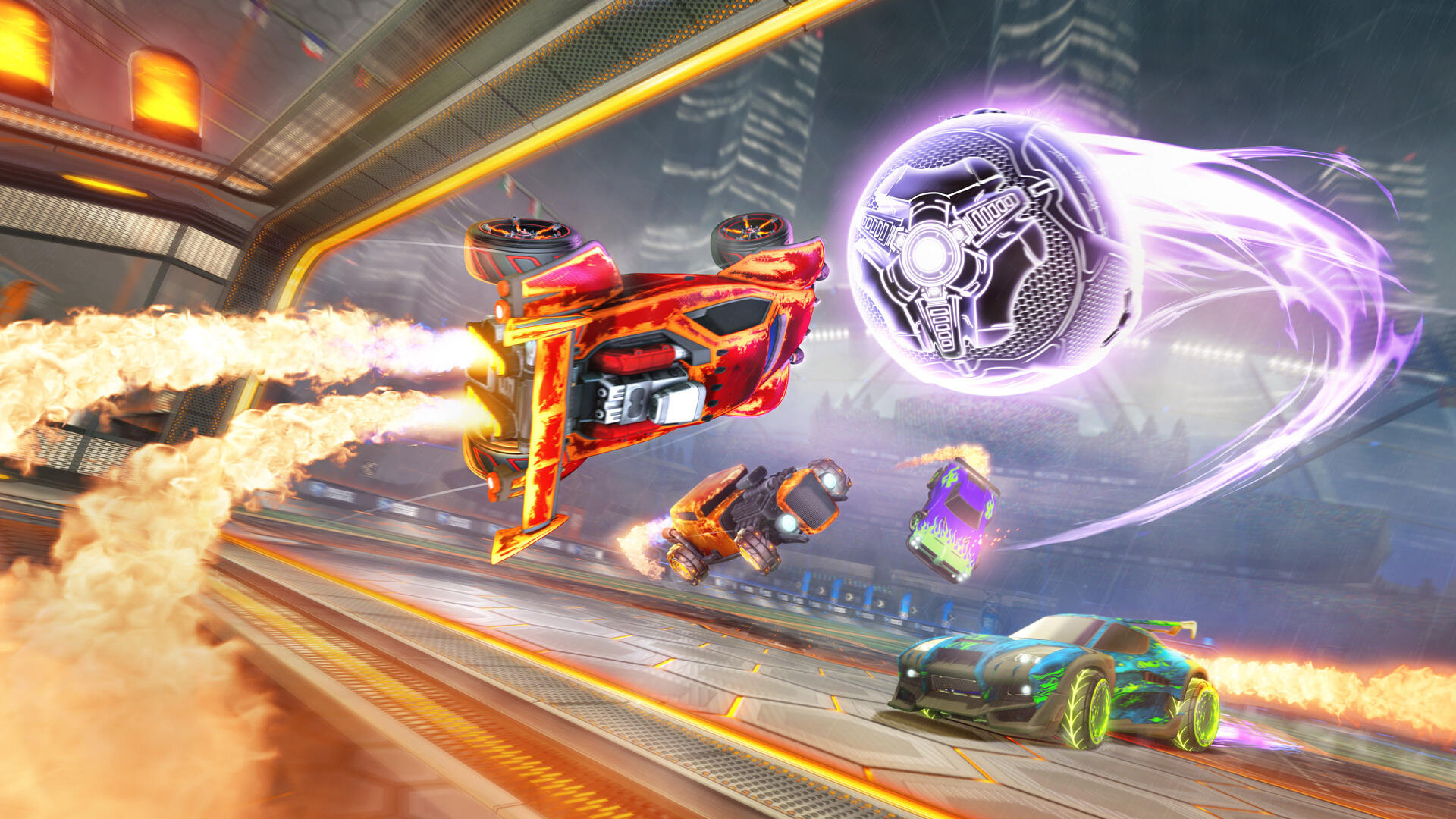 Rocket League's new limited-time mode turns the ball into a heatseeking missile screenshot