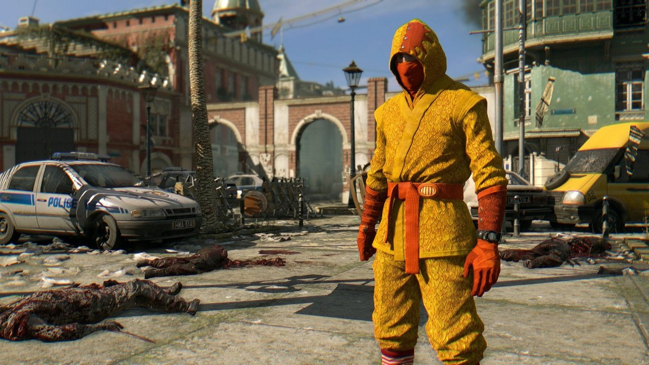 Dress like a chicken in Dying Light by stealing eggs from bunny zombies screenshot