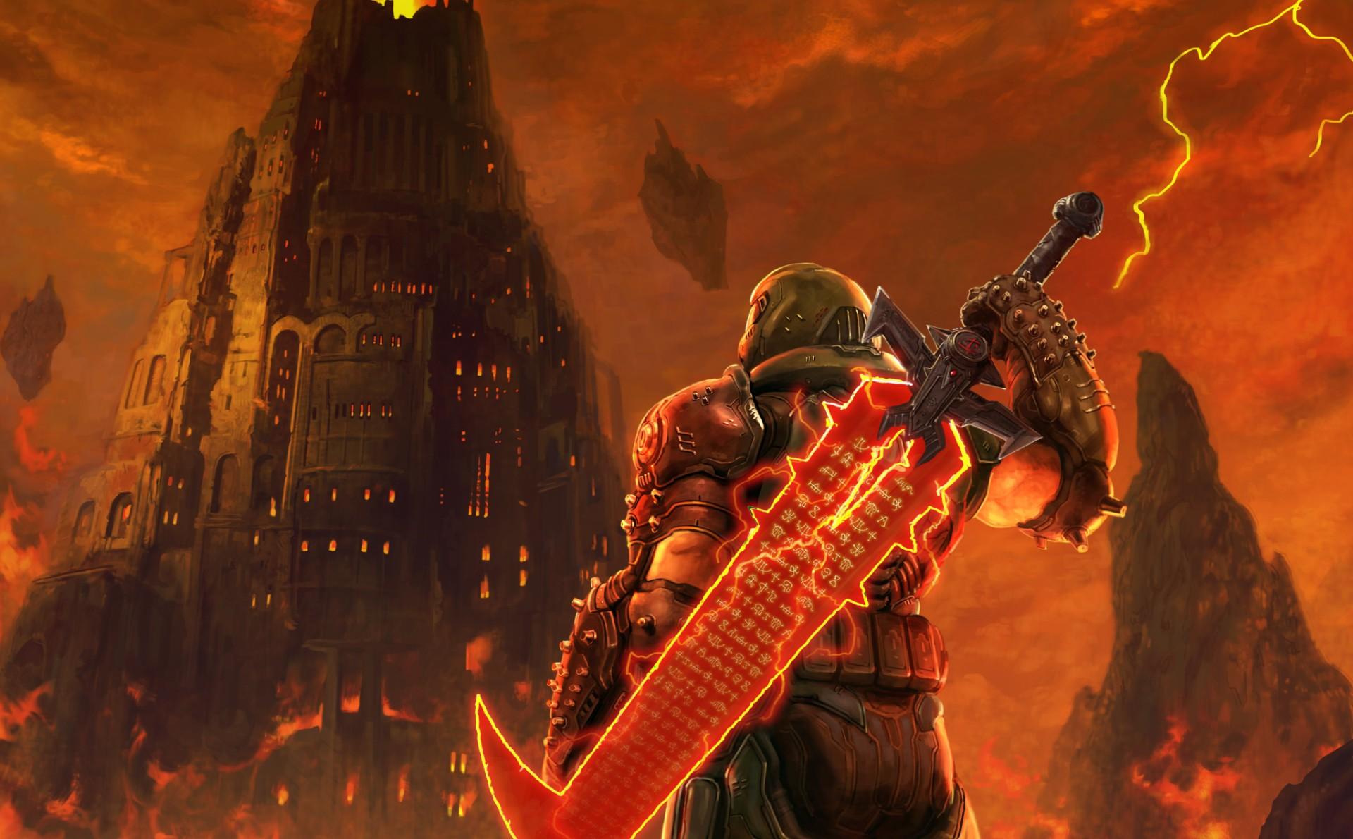 The Doom Eternal team created a nice little tribute to Final Fantasy VII Remake screenshot