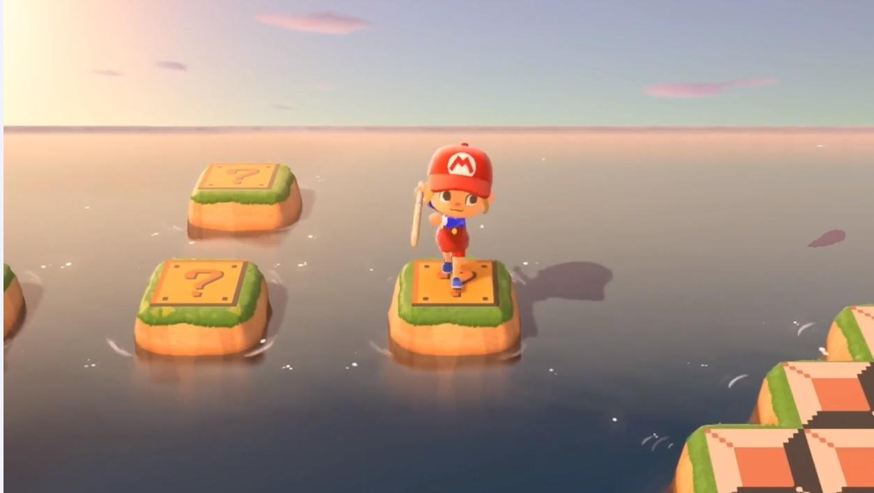 Someone recreated an actual Mario platformer experience in Animal Crossing screenshot