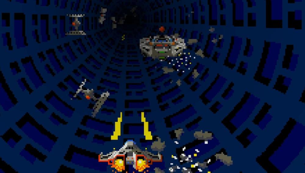 Dizzying shmup Tube Panic returns on Nintendo Switch screenshot
