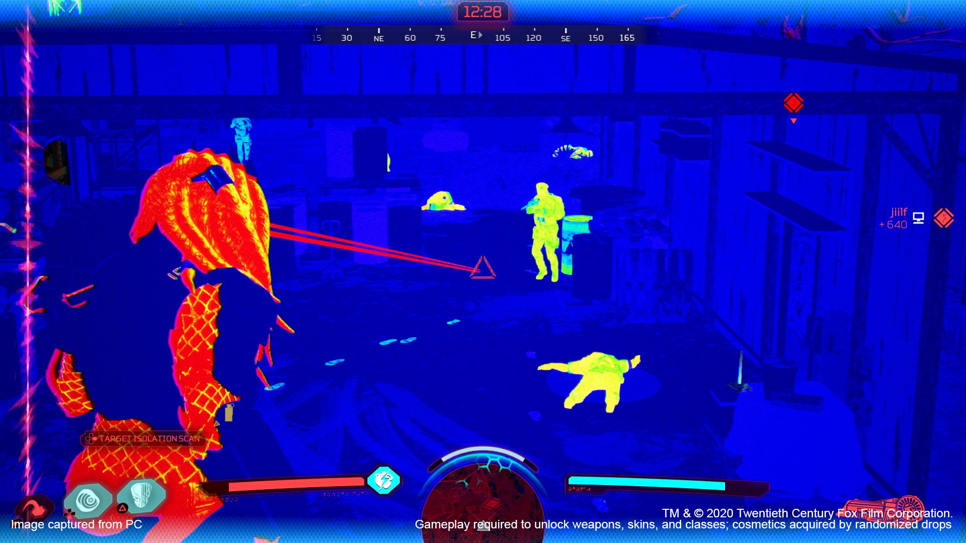 Predator: Hunting Grounds thermal vision