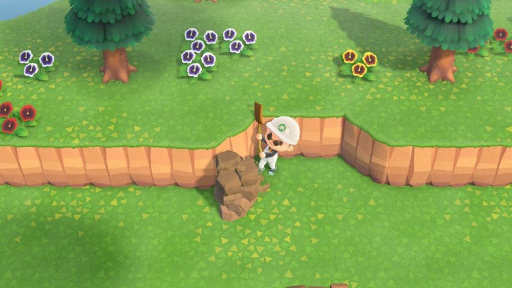 Is anyone else frustrated by Animal Crossing: New Horizon's terraforming system? screenshot
