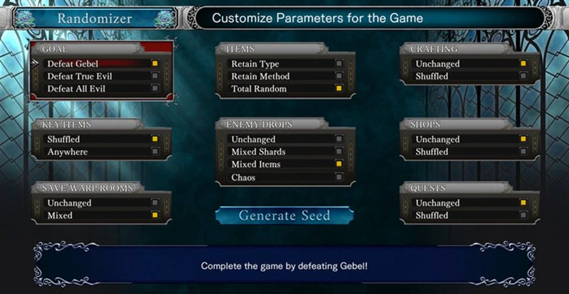 Bloodstained: Ritual of the Night Randomizer