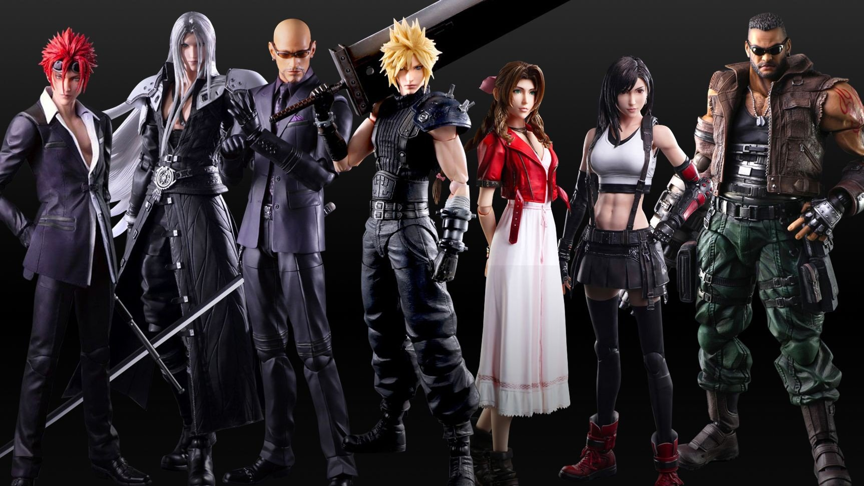 Final Fantasy Vii Remake Play Arts Line Adds Reno Rude And Sephiroth