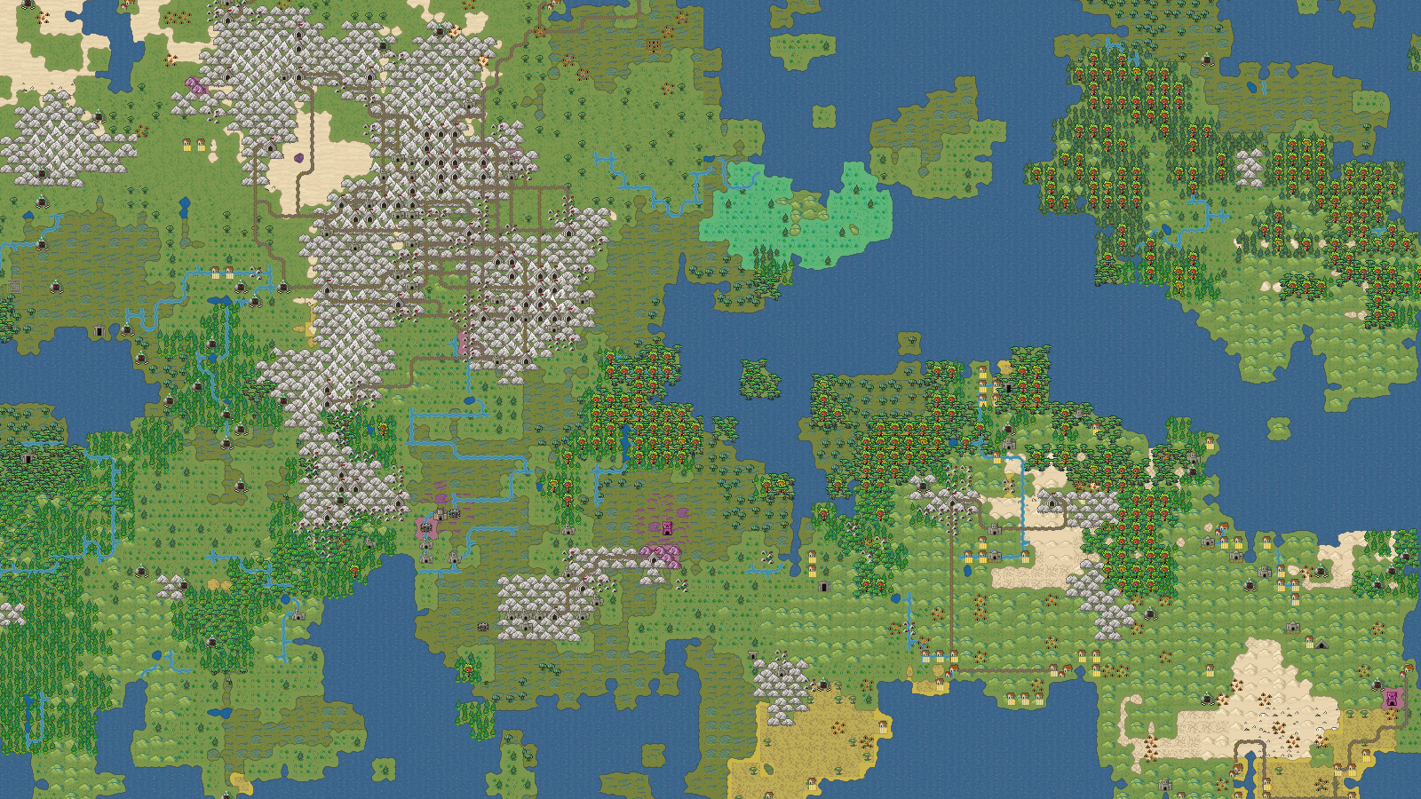 Dwarf Fortress looks like a whole new game with a graphical world map screenshot