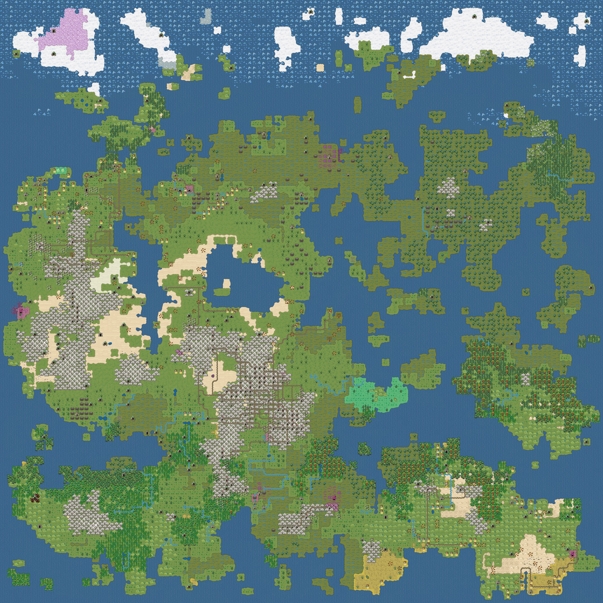 Dwarf Fortress has a new world map tileset for Steam