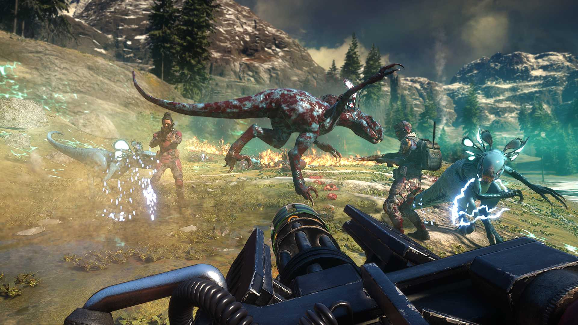 You'll need a buddy to get into the Second Extinction beta screenshot
