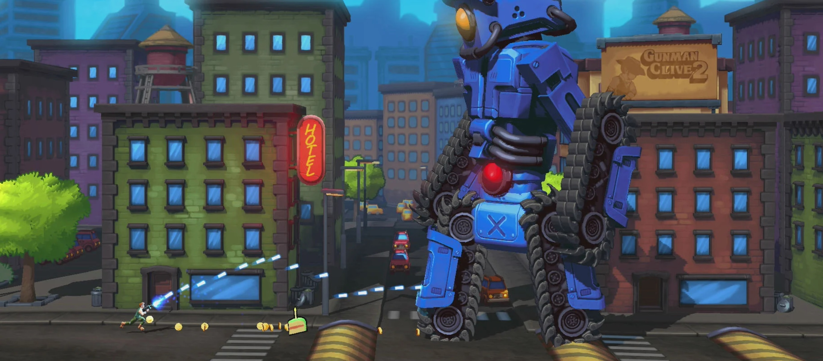 Contra-like boss battler Mechstermination Force is coming to PC screenshot
