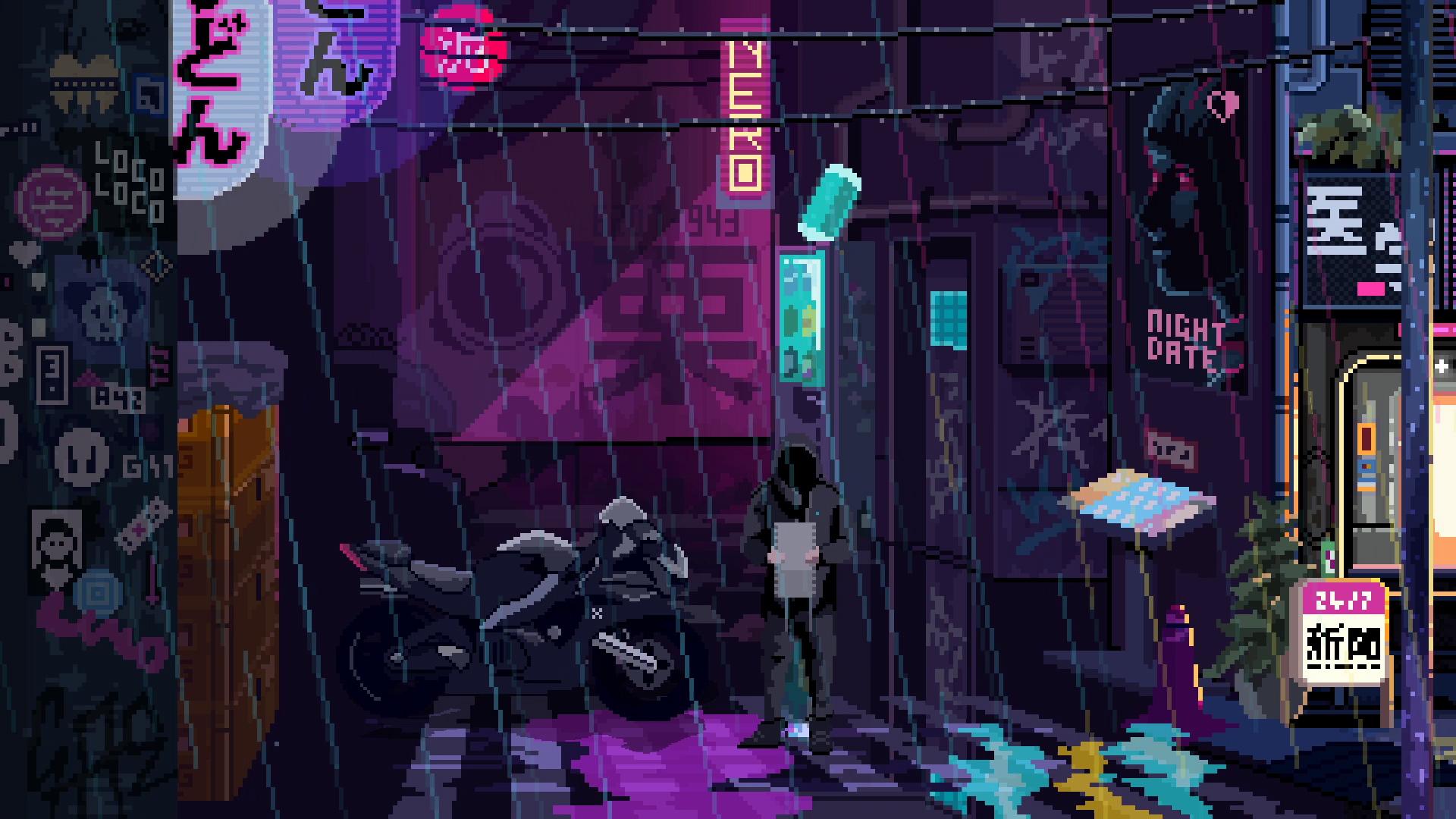 Tango with technomancers in the cyberpunk adventure VirtuaVerse screenshot