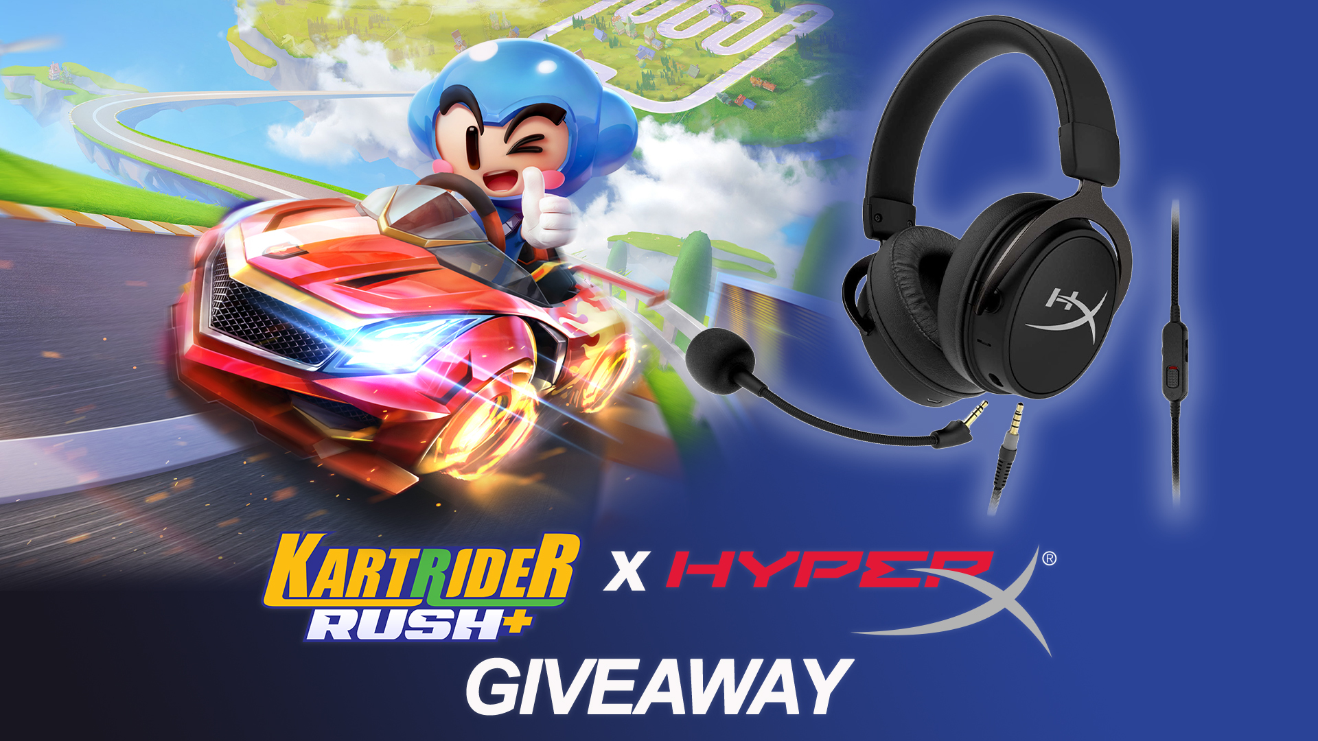 Contest: Win a HyperX Cloud MIX Gaming Headset, courtesy of the newly-launched KartRider Rush+ screenshot