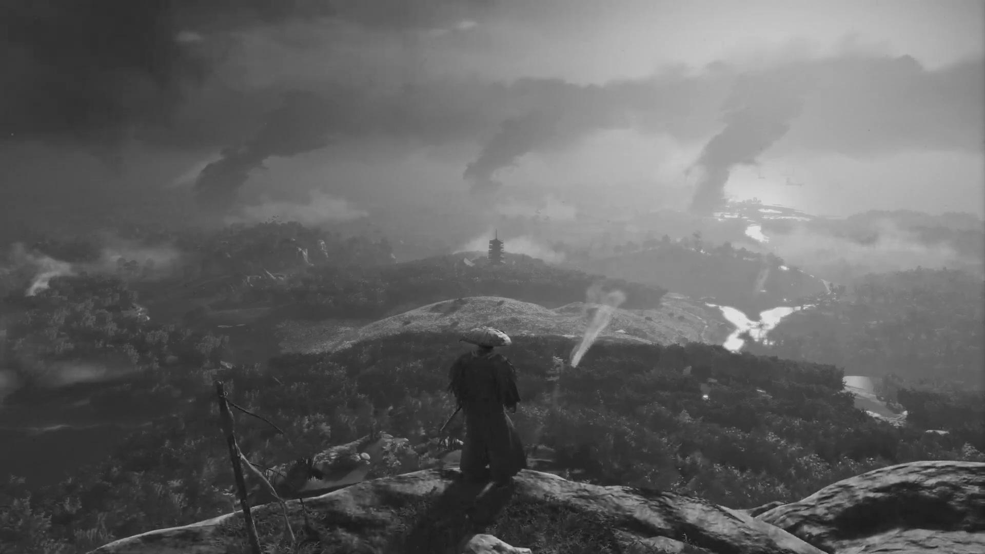 Ghost of Tsushima has a cinema-inspired black and white mode screenshot