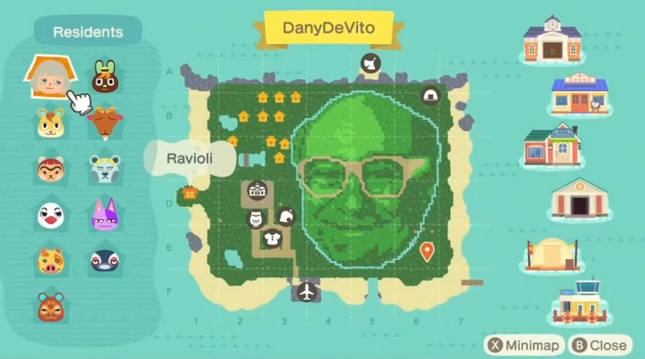 Welcome...to Animal Crossing's Danny DeVito island screenshot