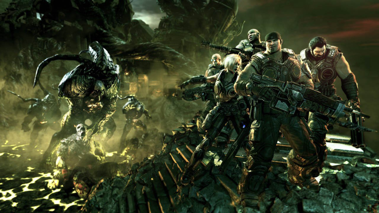 Is this Gears of War 3 running on a PS3? screenshot