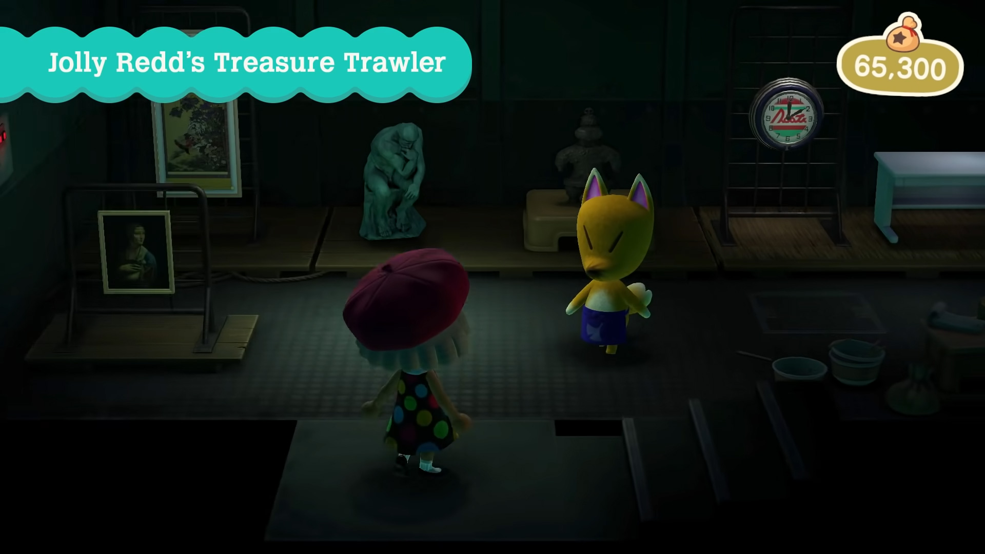 Redd can show up with all fakes in Animal Crossing: New Horizons screenshot
