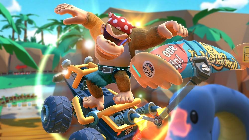 Mario Kart Tour's Jungle Tour adds Funky and Dixie Kong screenshot