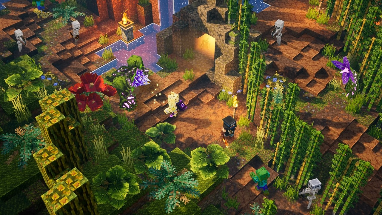 Minecraft Dungeons is getting cross-play, as well as DLC screenshot