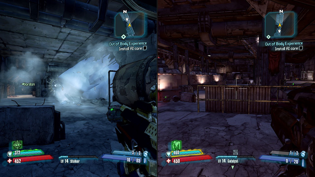 Borderlands 2 Nintendo Switch split screen screenshot