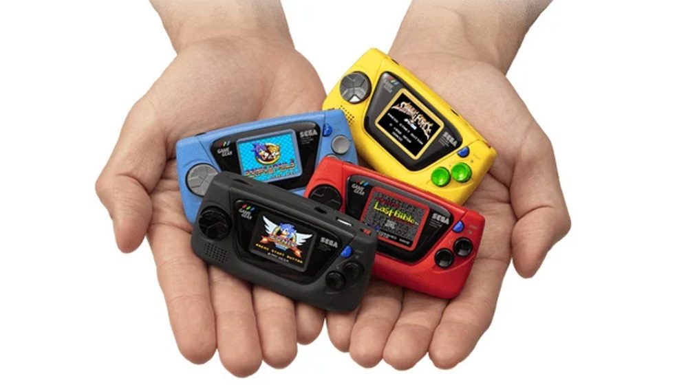 Sega Game Gear Micro includes four games, each color variant has different titles screenshot