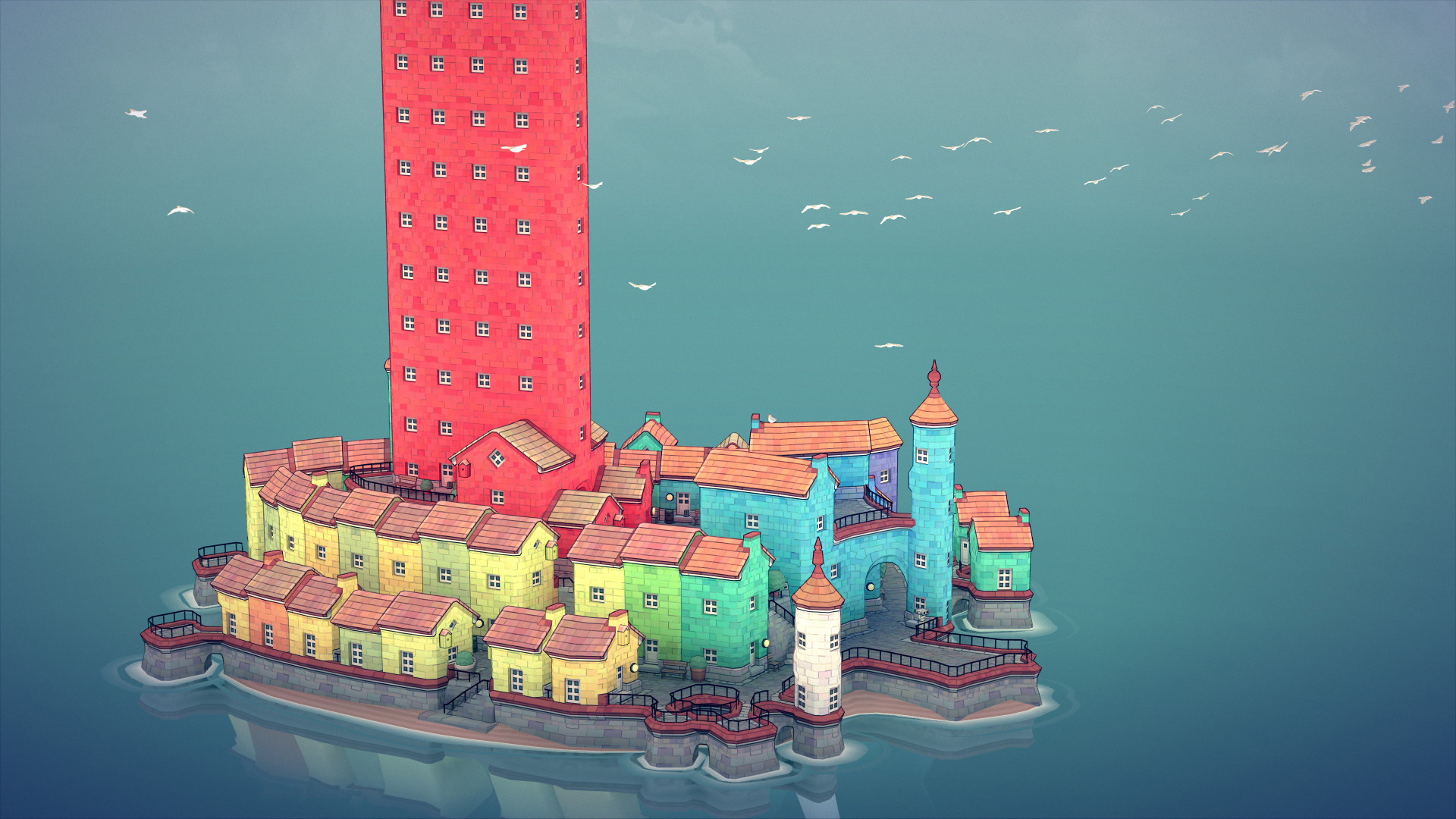 Townscaper is a stress-free game about building quaint towns screenshot