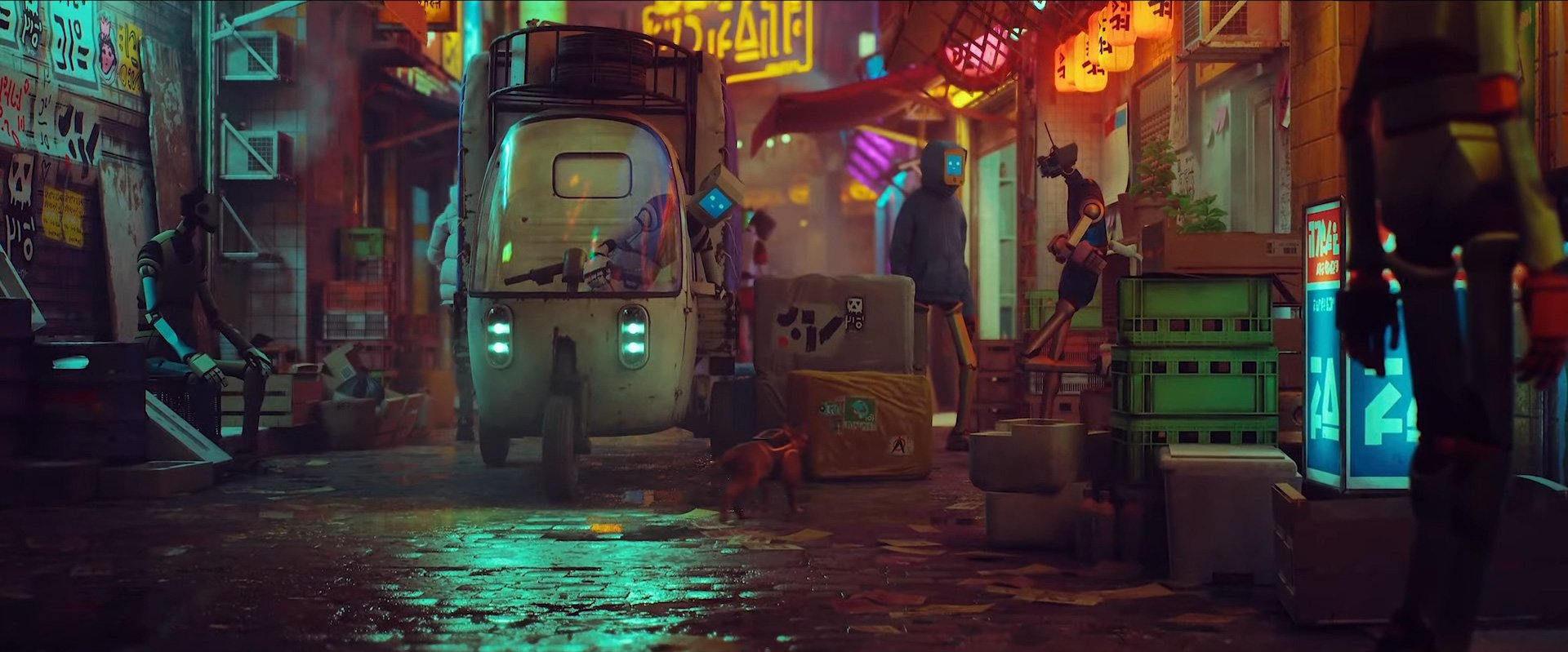 Stray is a peculiar PS5 game about a cat in a robot world screenshot