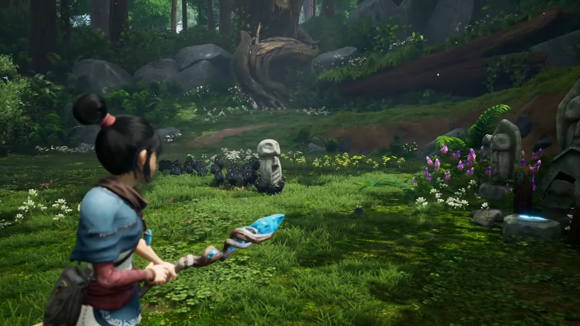 Kena: Bridge of Spirits is a gorgeous PS5 action-adventure game screenshot