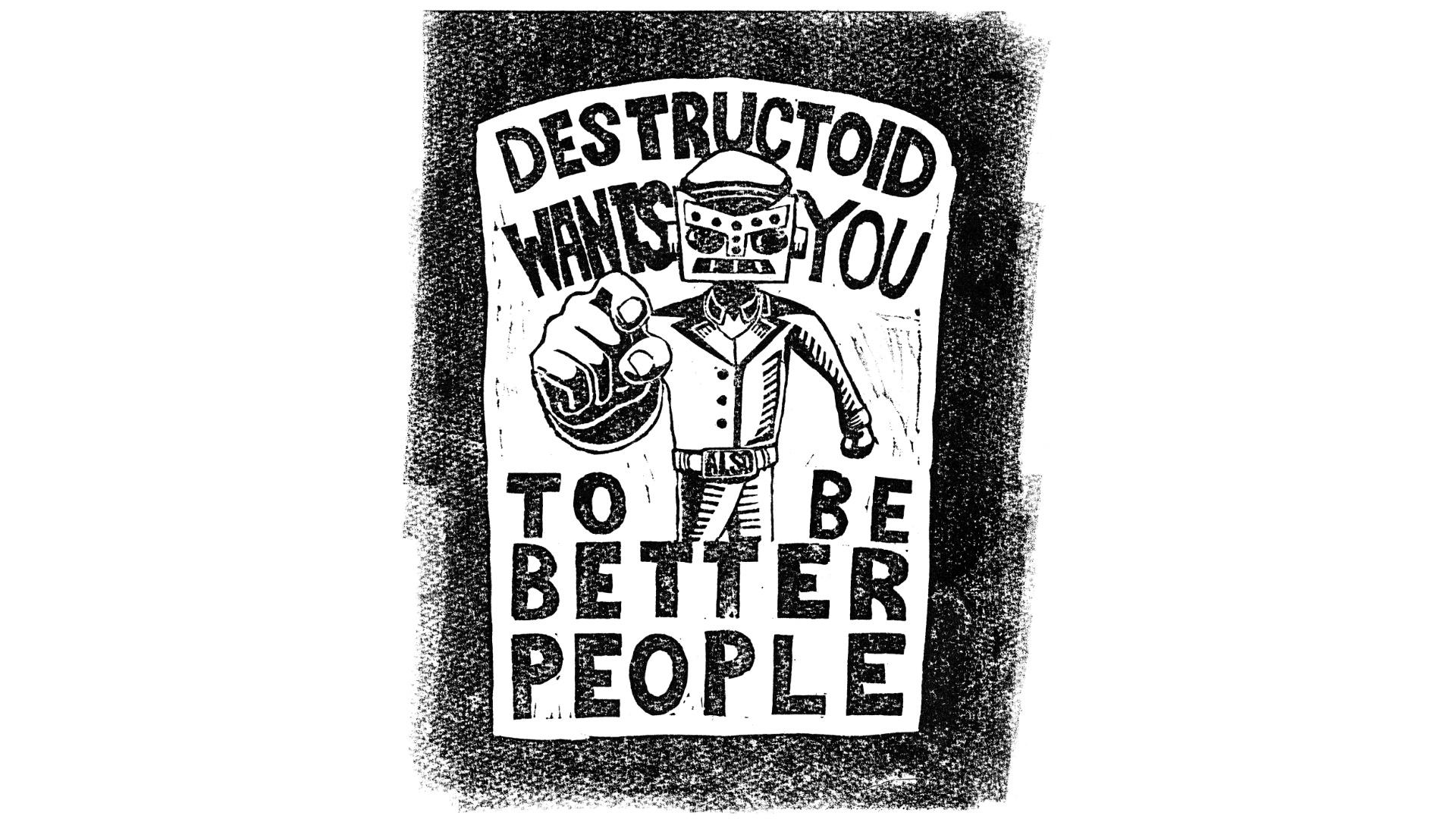 We're bringing back two old school Destructoid shirts screenshot