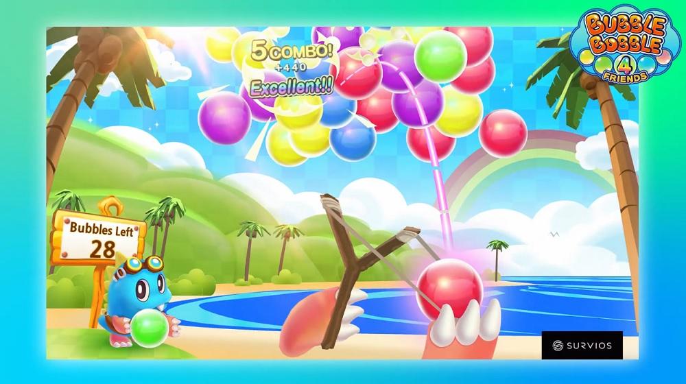 Bubble Bobble 4 Friends launches on PS4 in November, Puzzle Bobble VR in development screenshot