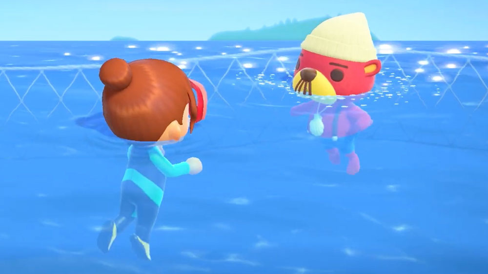 Animal Crossing: New Horizons adds swimming and deep-sea diving next month screenshot