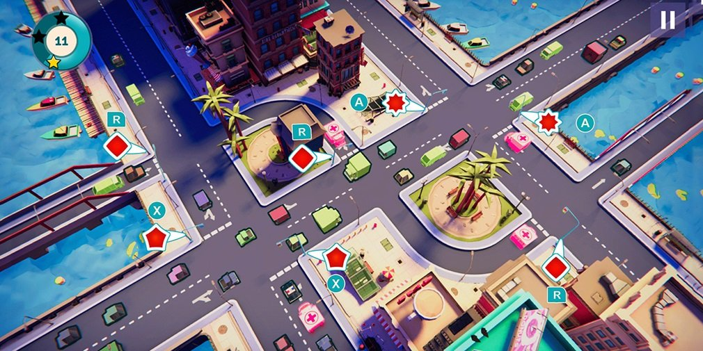 Protect traffic and keep your city moving in Urban Flow, out now on Switch screenshot