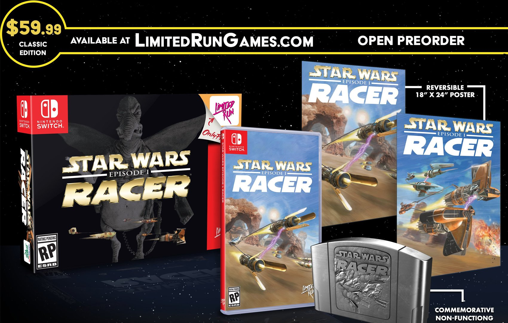 Limited Run's classic edition of Star Wars Episode I: Racer is heavy on N64 nostalgia screenshot
