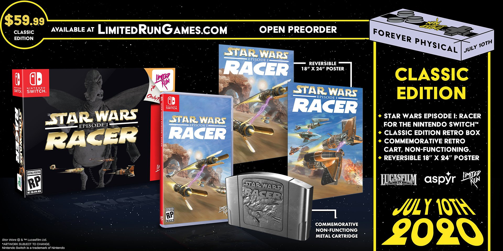 Star Wars Episode I: Racer classic edition Limited Run Games