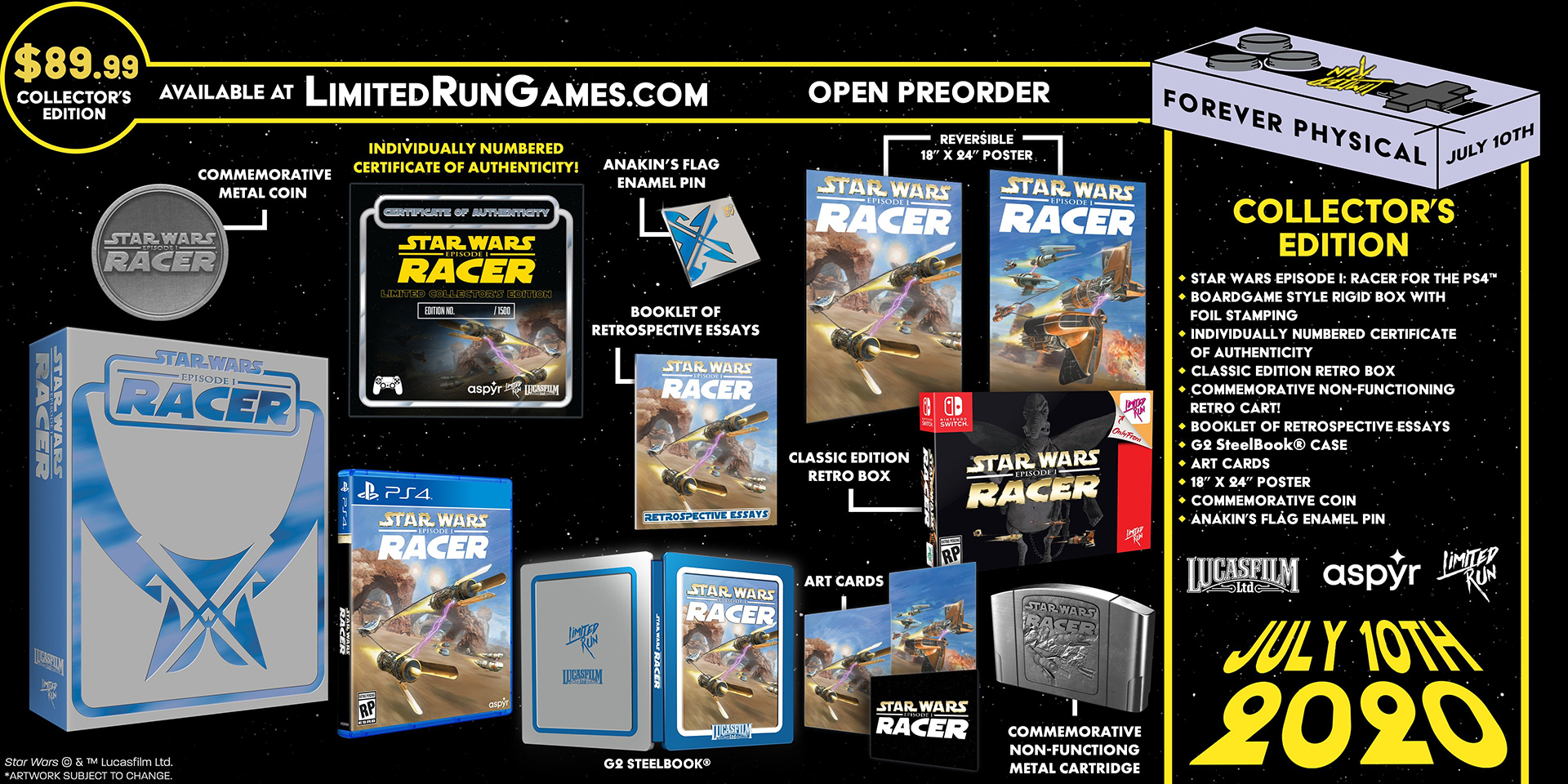 Star Wars Episode I: Racer collector's edition Limited Run Games