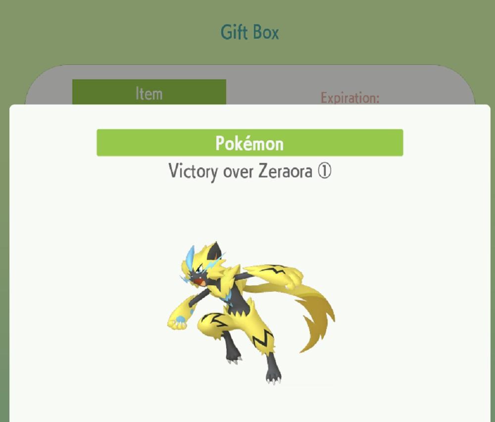 So many people wanted Pokemon's Shiny Zeraora that the Home app crashed screenshot