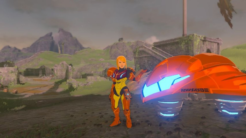 Metroid invades Zelda: Breath of the Wild with this mod screenshot