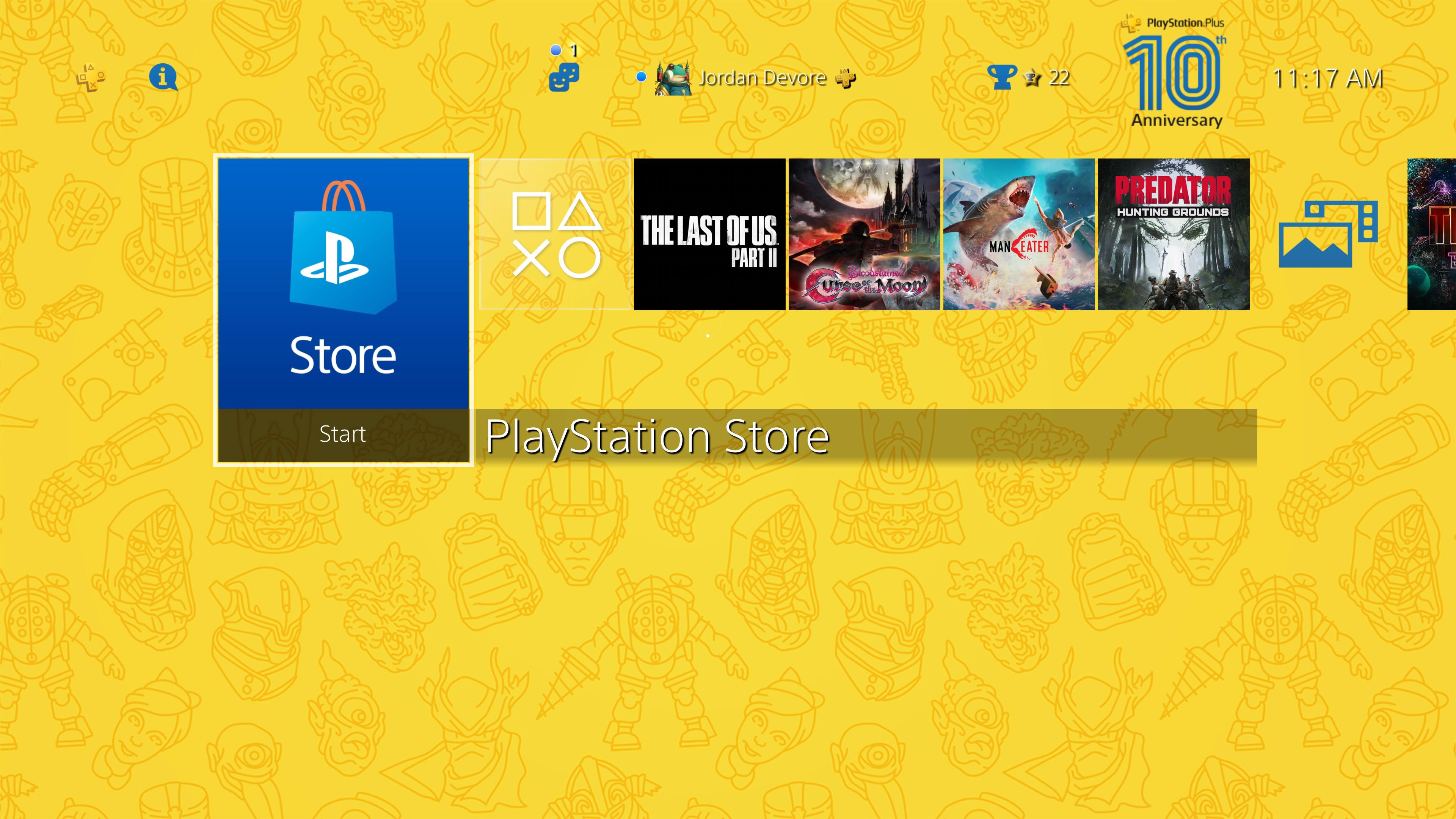 PlayStation Plus 10th Anniversary theme