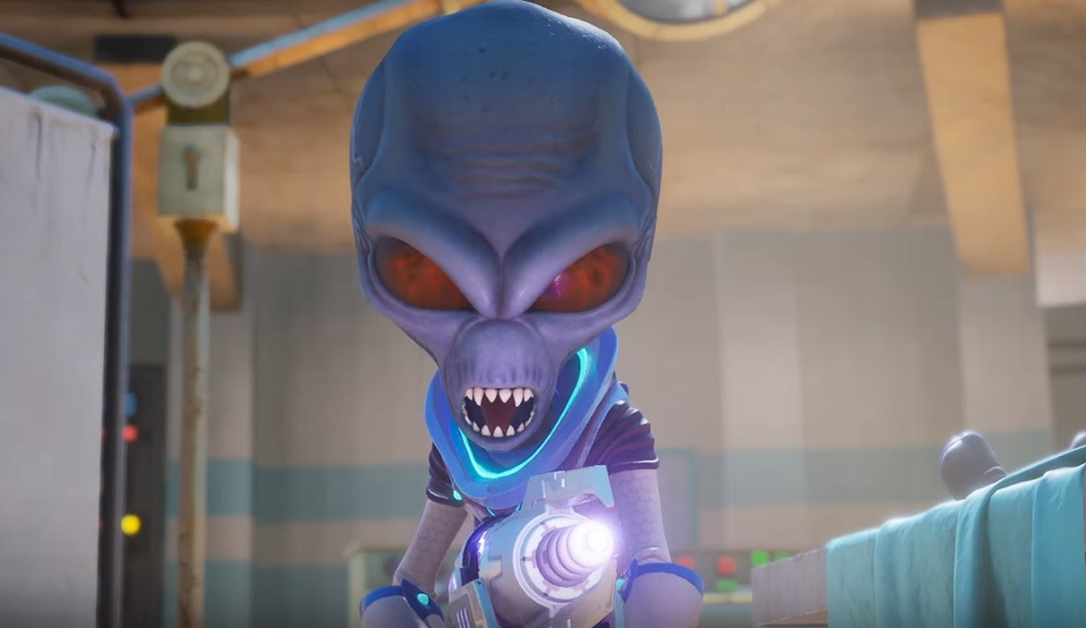 Crypto infiltrates Area 42 in Destroy All Humans! screenshot