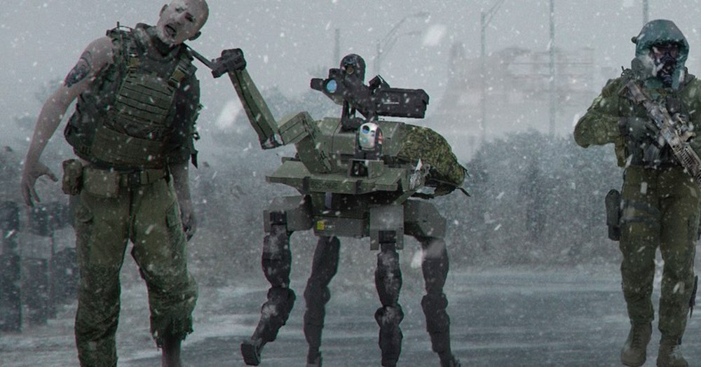 Call of Duty: Modern Warfare could have had a zombie mode where robots held the undead on a leash