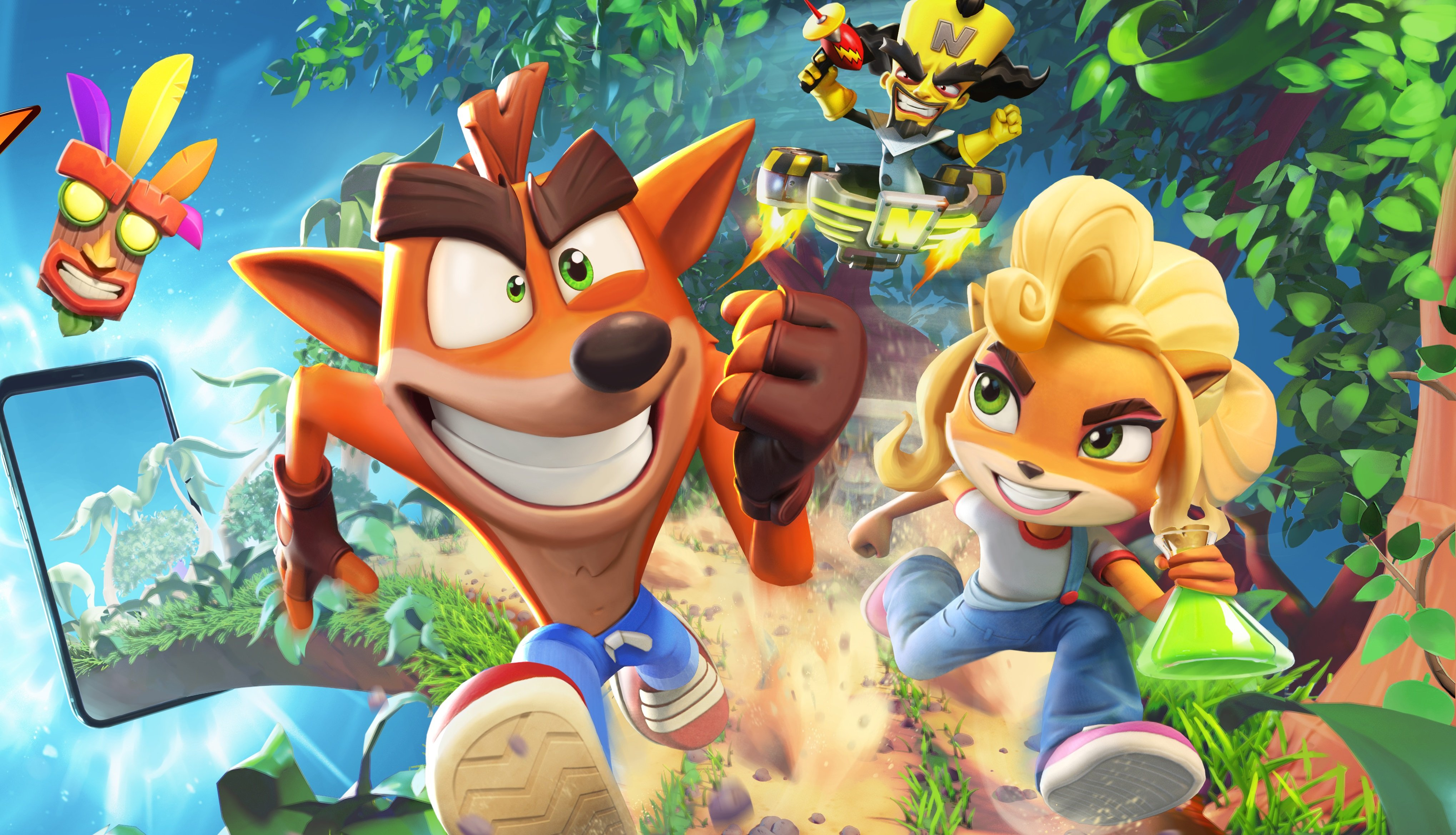 Crash Bandicoot is getting another game this year...a mobile game screenshot