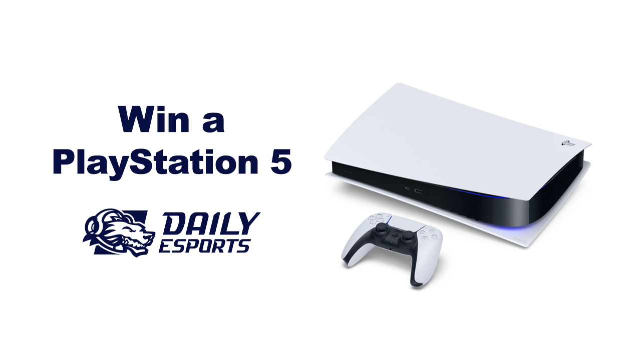 You could win a PlayStation 5 from Daily Esports GG screenshot