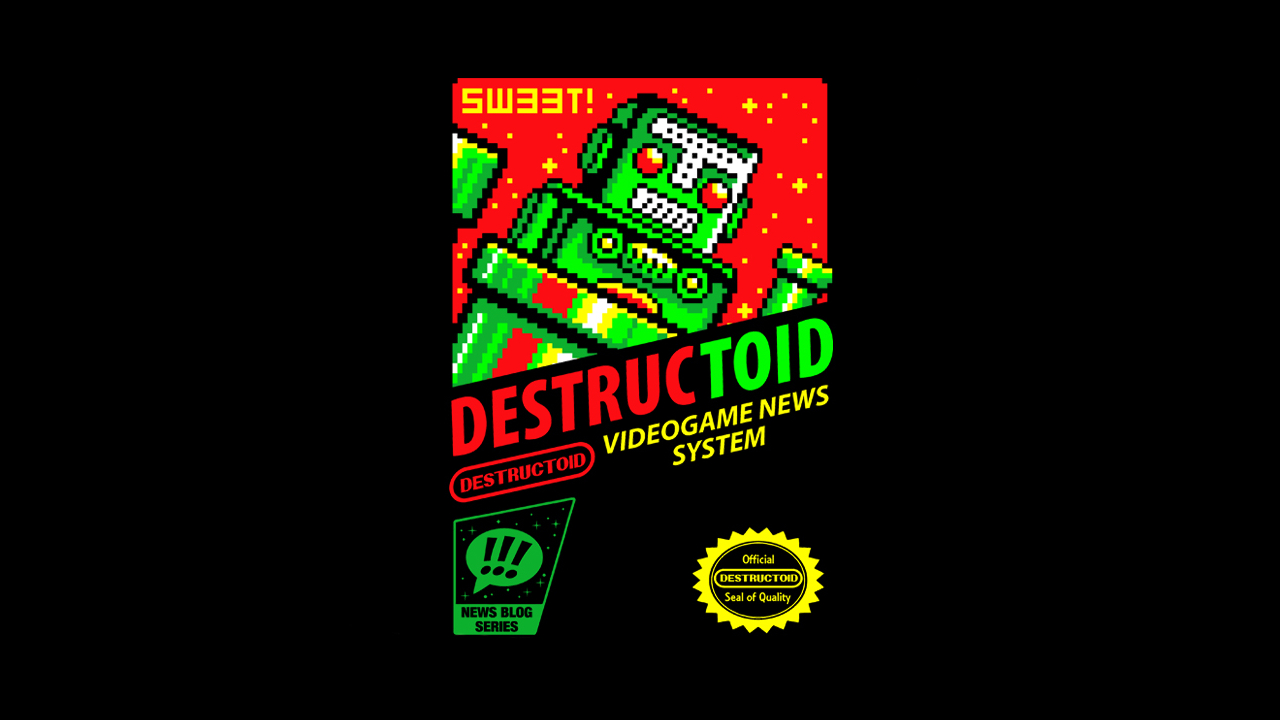 Get retro once again with this classic Destructoid shirt screenshot
