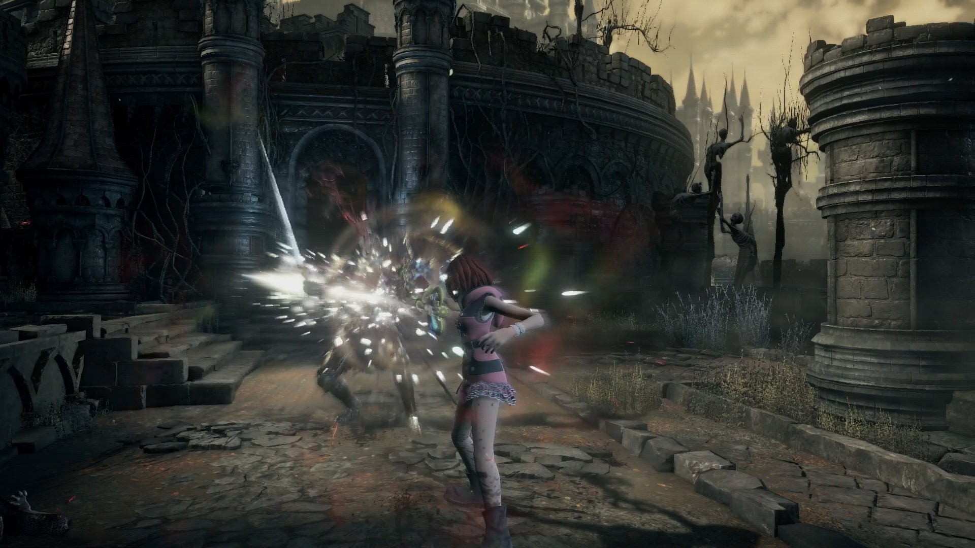 Face the ultimate heart of darkness with this Dark Souls III Kingdom Hearts mod screenshot