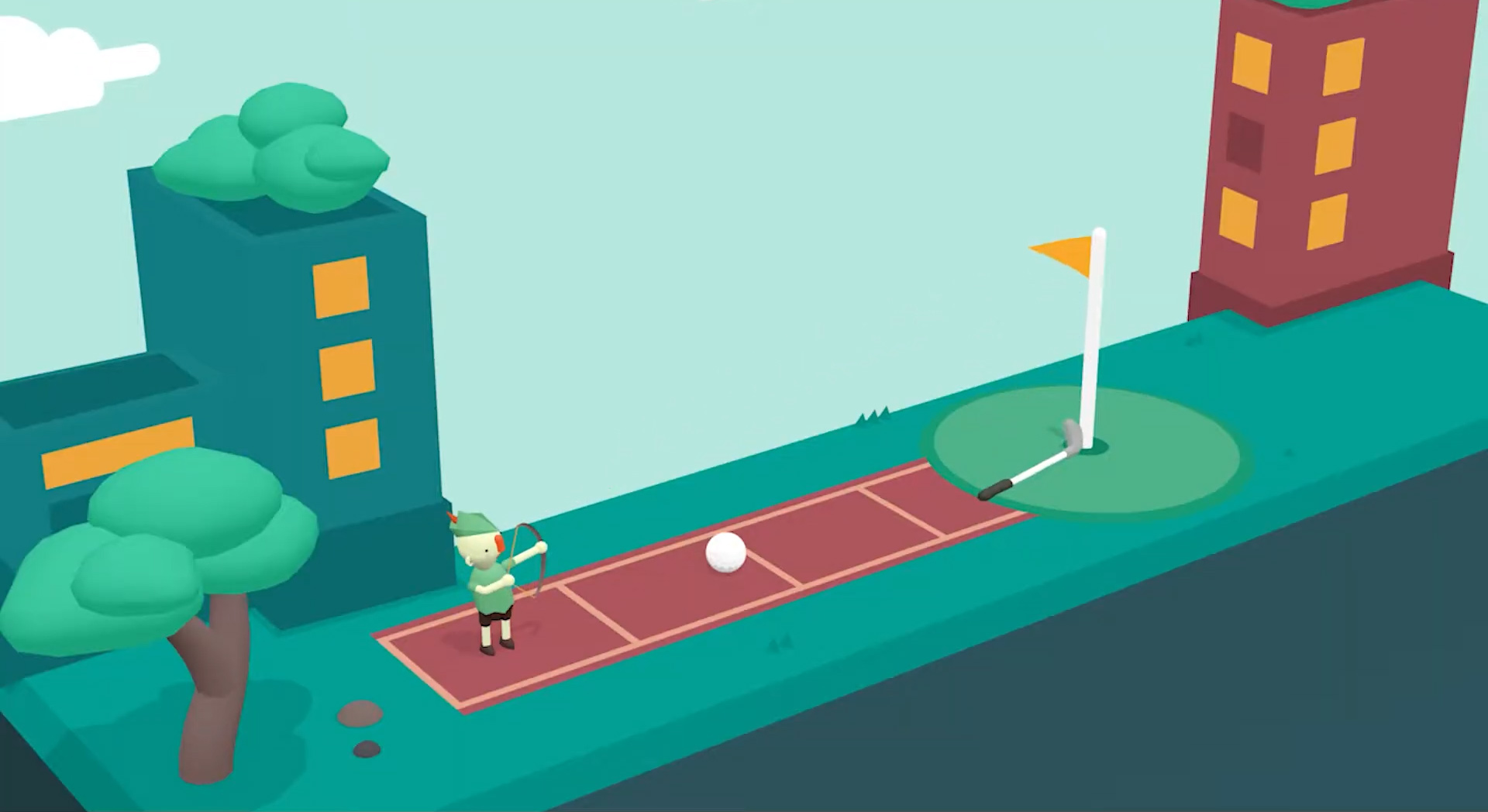 What the Golf? is back with 30 silly new levels screenshot