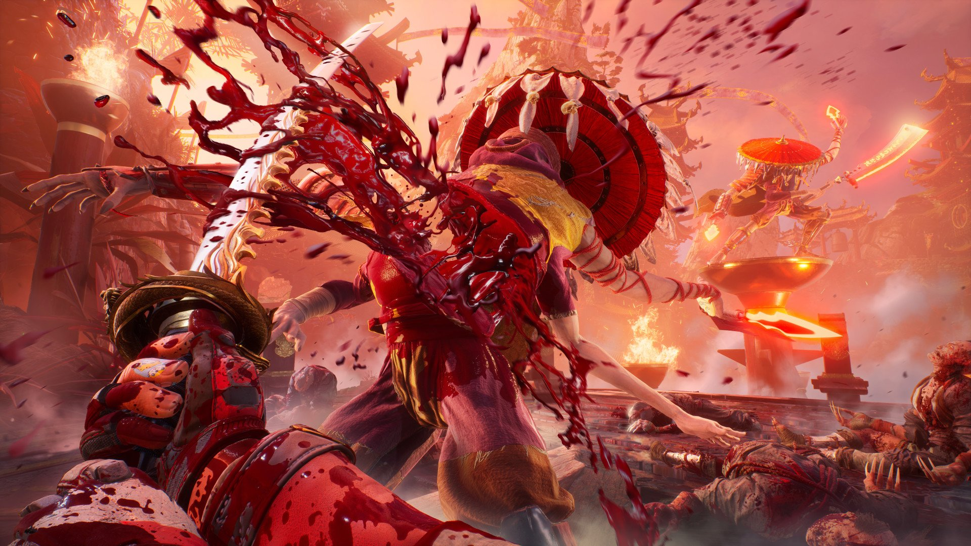 It's blood, blood (gallons of the stuff) in Shadow Warrior 3's first gameplay trailer screenshot